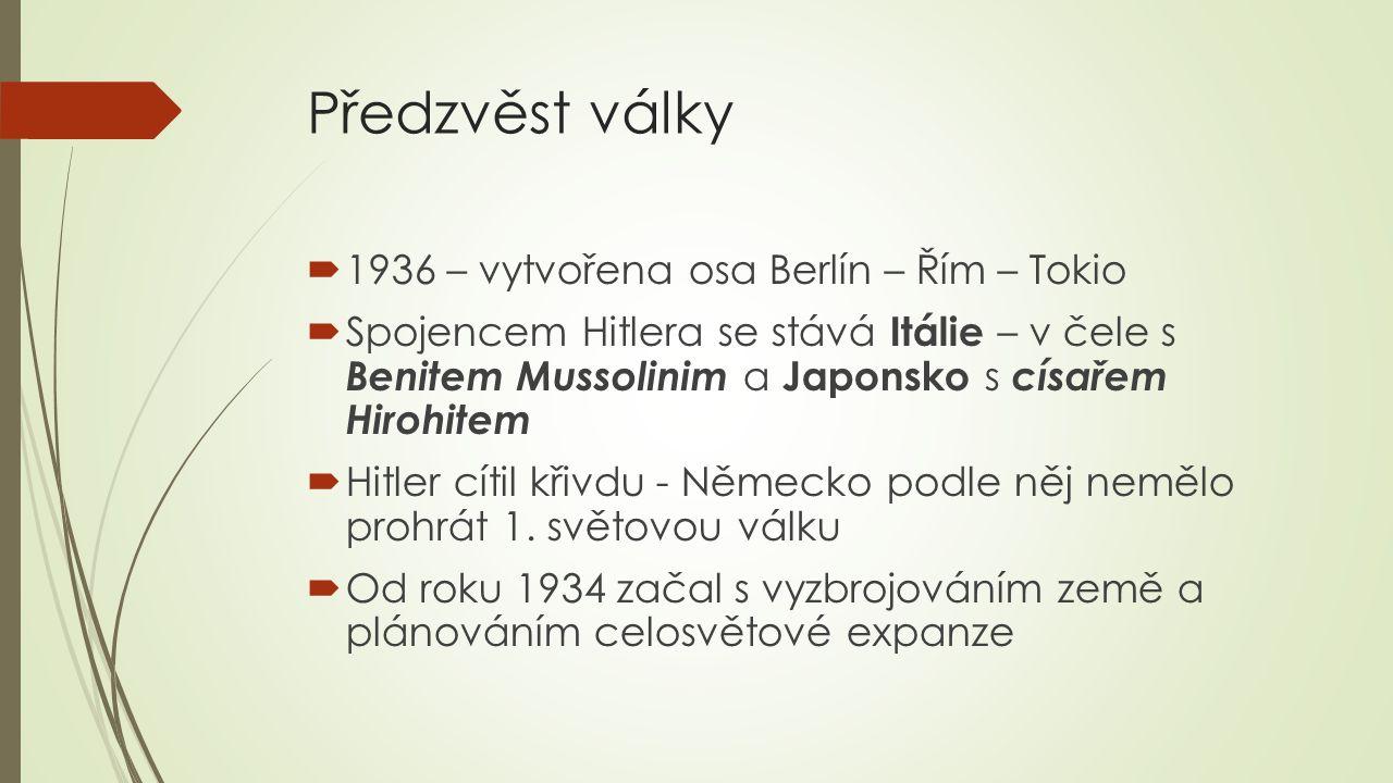 Předzvěst války 1936 – vytvořena osa Berlín – Řím – Tokio