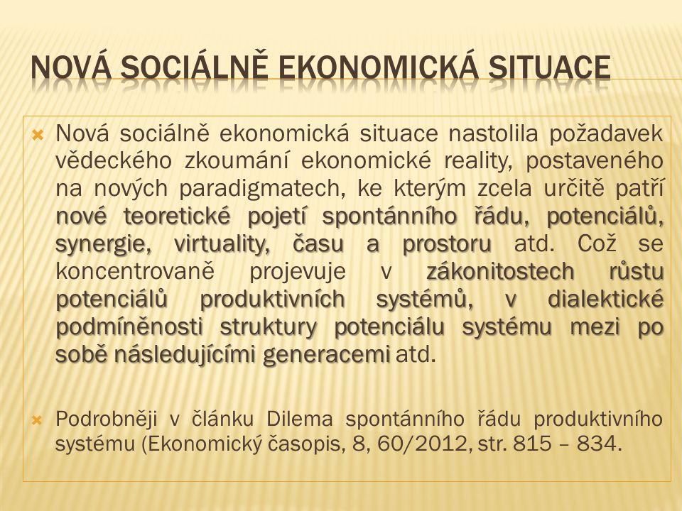 Nová sociálně ekonomická situace