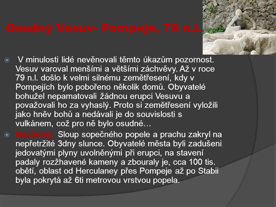 Osudný Vesuv- Pompeje, 79 n.l.