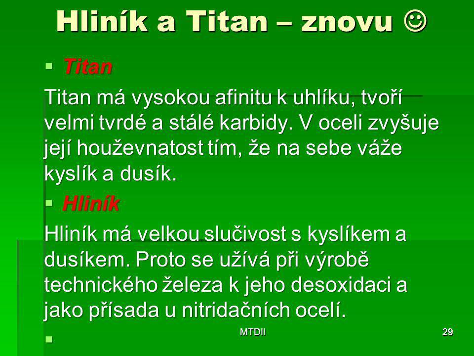 Hliník a Titan – znovu  Titan