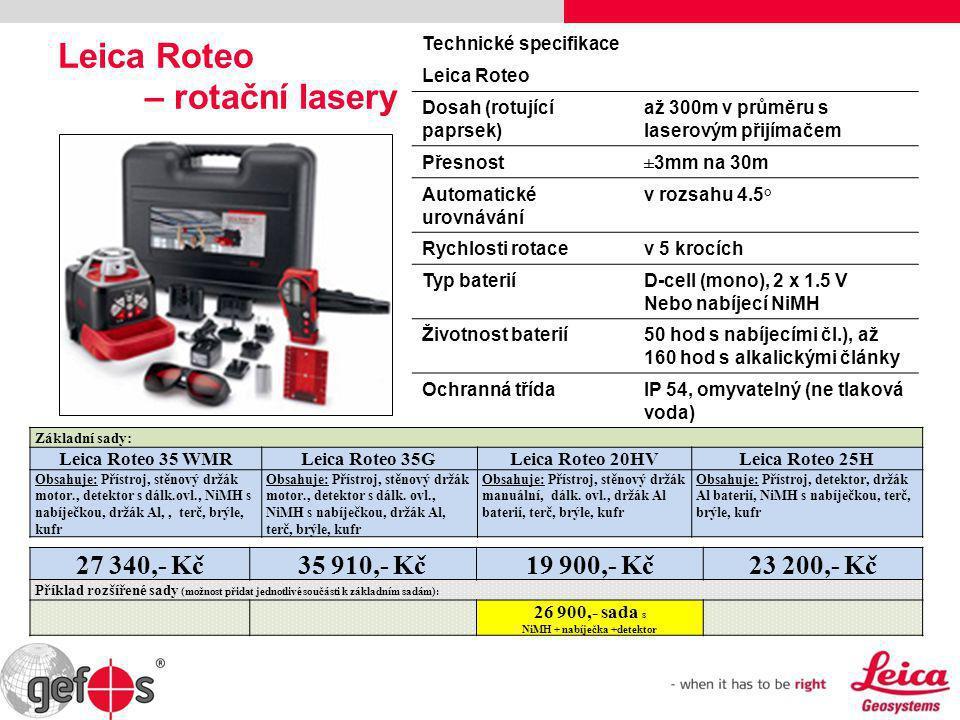 Leica Roteo – rotační lasery