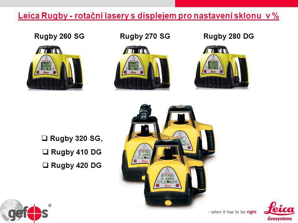 Leica Rugby - rotační lasery s displejem pro nastavení sklonu v %
