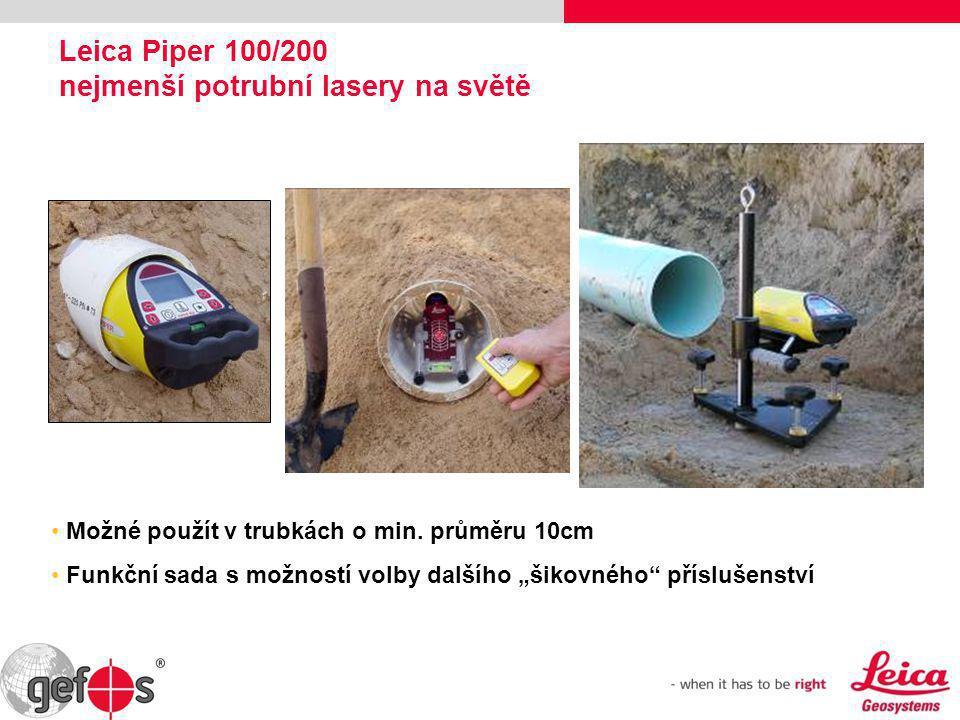 Leica Piper 100/200 nejmenší potrubní lasery na světě