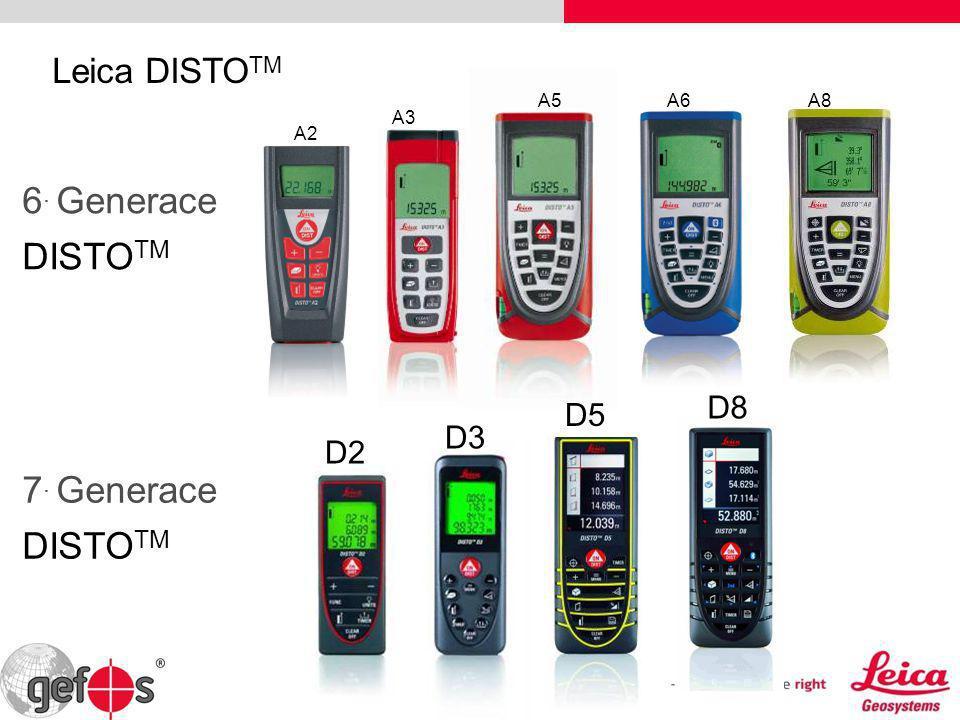 6. Generace DISTOTM 7. Generace DISTOTM Leica DISTOTM D8 D5 D3 D2 A5