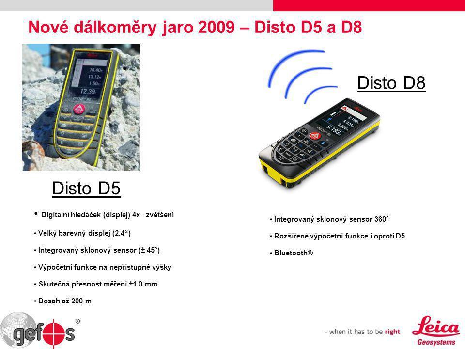 Nové dálkoměry jaro 2009 – Disto D5 a D8