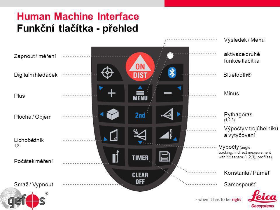 Human Machine Interface Funkční tlačítka - přehled
