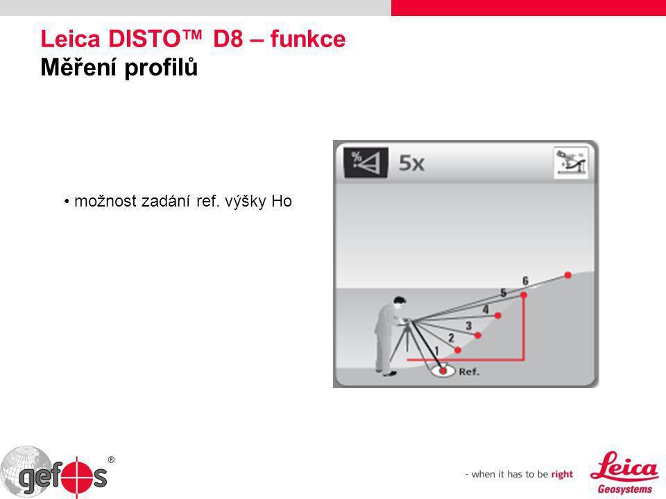 Leica DISTO™ D8 – funkce Měření profilů