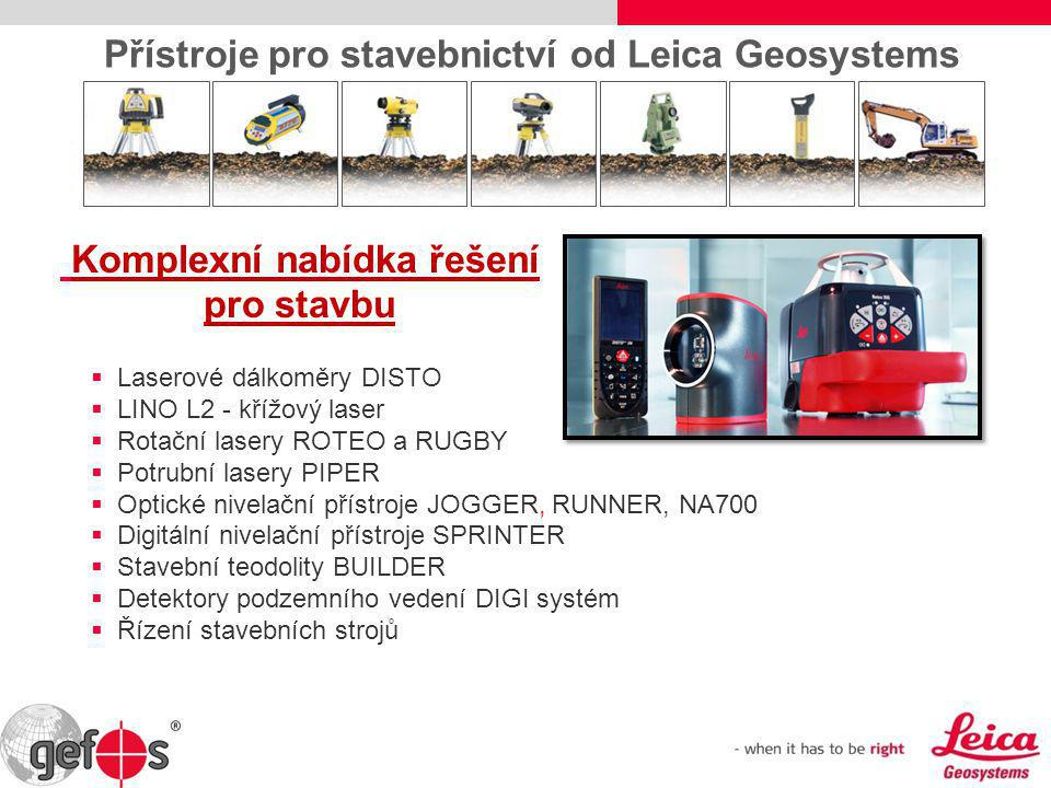 Přístroje pro stavebnictví od Leica Geosystems