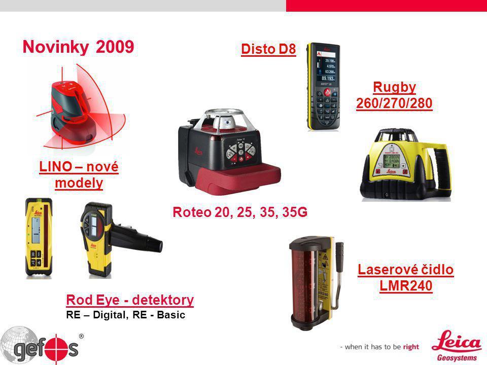 Novinky 2009 Disto D8 Rugby 260/270/280 LINO – nové modely