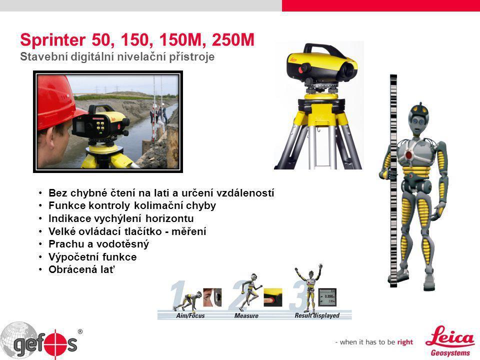 Sprinter 50, 150, 150M, 250M Stavební digitální nivelační přístroje
