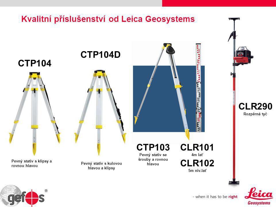 Kvalitní příslušenství od Leica Geosystems