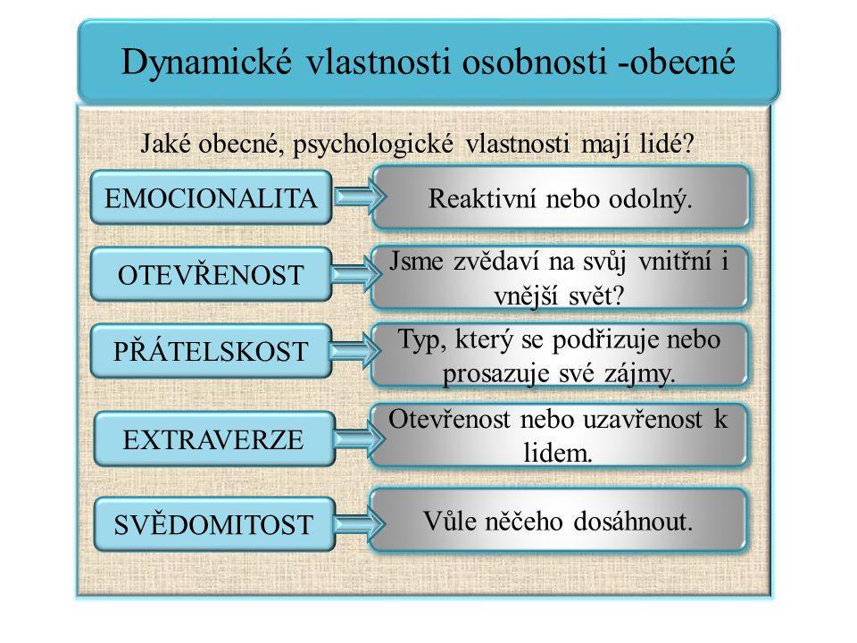 Dynamické vlastnosti osobnosti -obecné