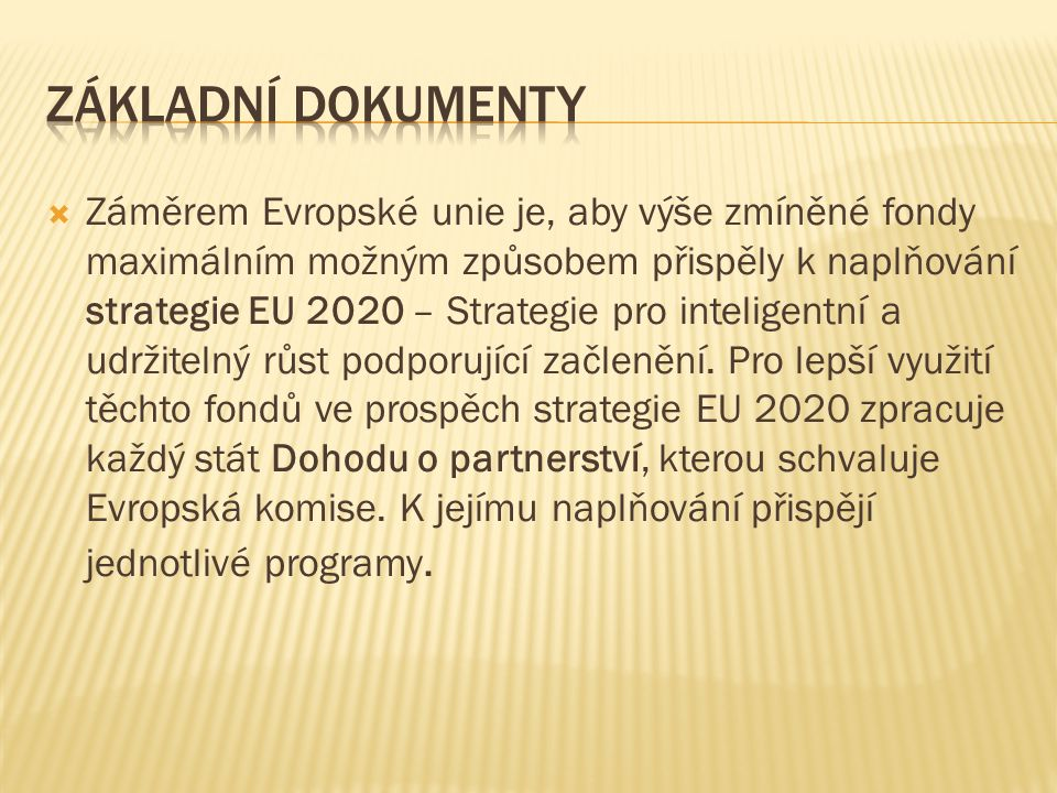 Základní dokumenty