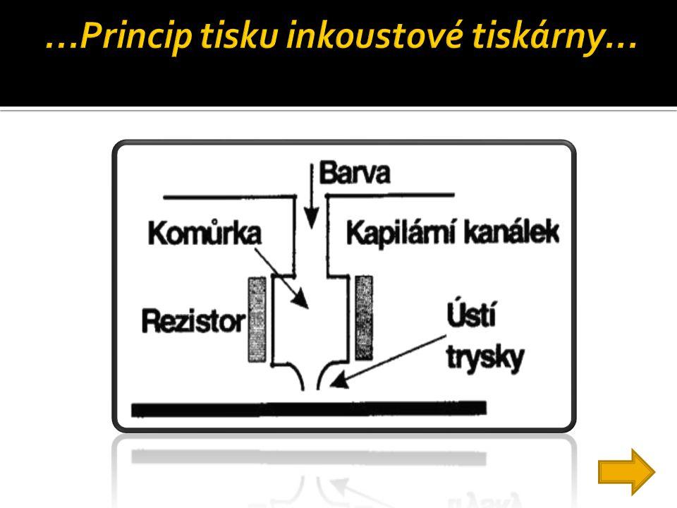 ...Princip tisku inkoustové tiskárny...