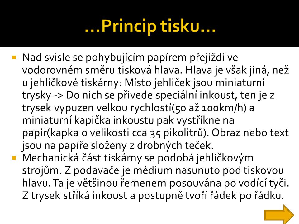 ...Princip tisku...