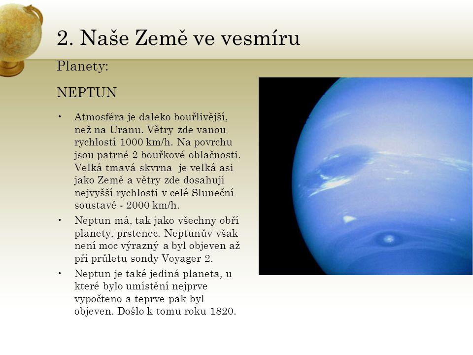 2. Naše Země ve vesmíru Planety: NEPTUN