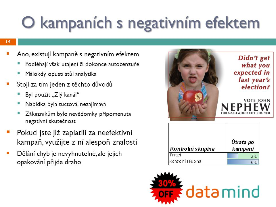 O kampaních s negativním efektem