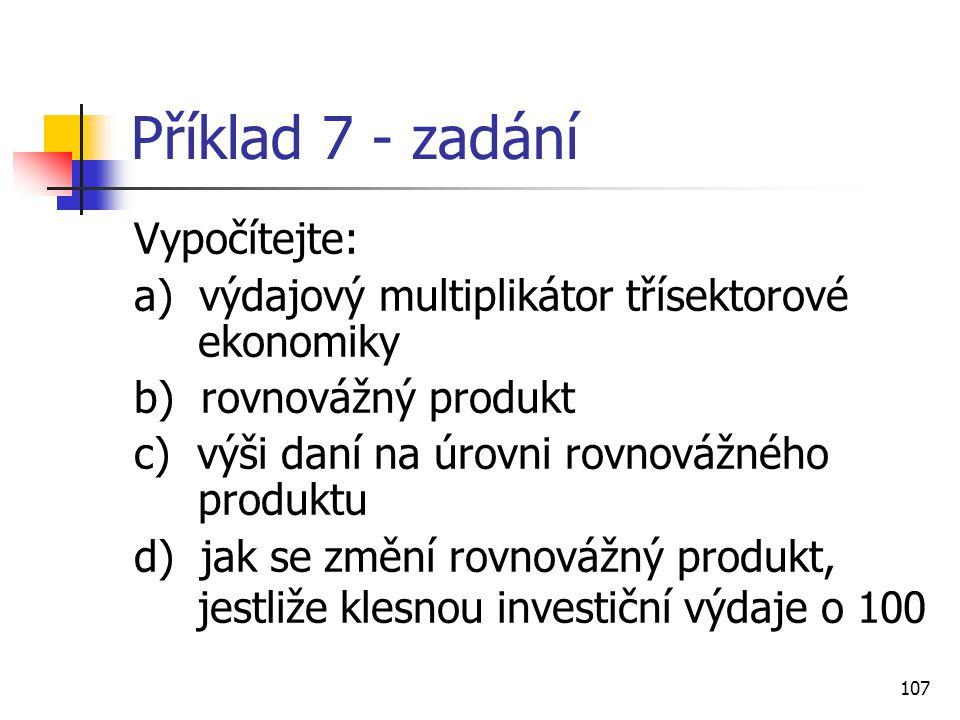 Příklad 7 - zadání Vypočítejte:
