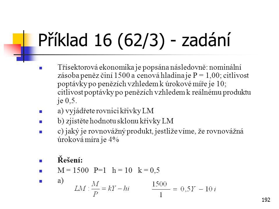 Příklad 16 (62/3) - zadání