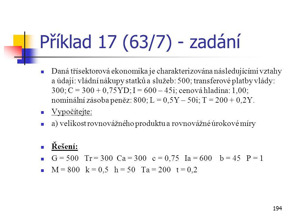 Příklad 17 (63/7) - zadání