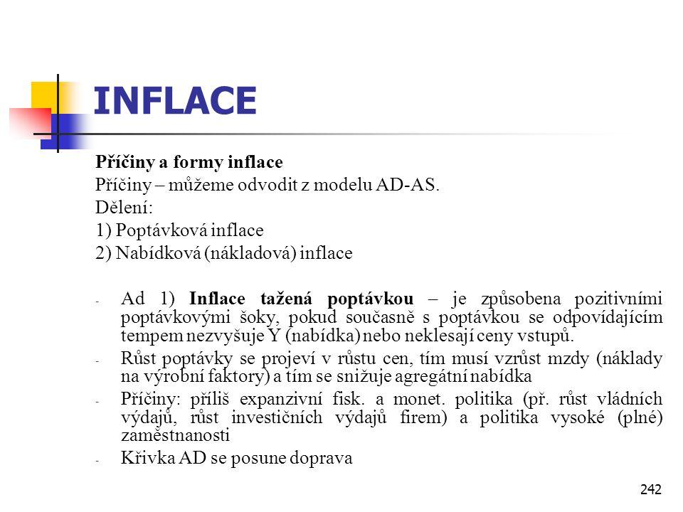 INFLACE Příčiny a formy inflace