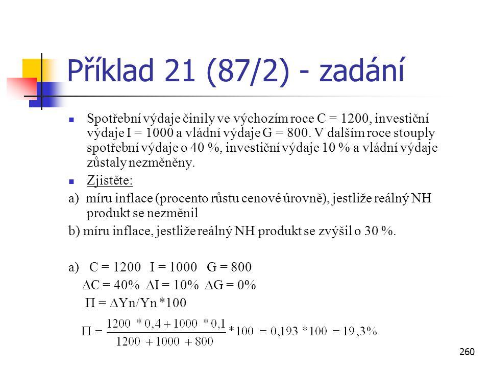 Příklad 21 (87/2) - zadání