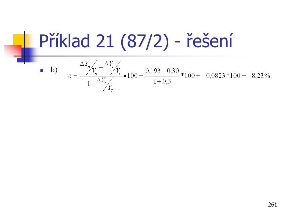 Příklad 21 (87/2) - řešení b)