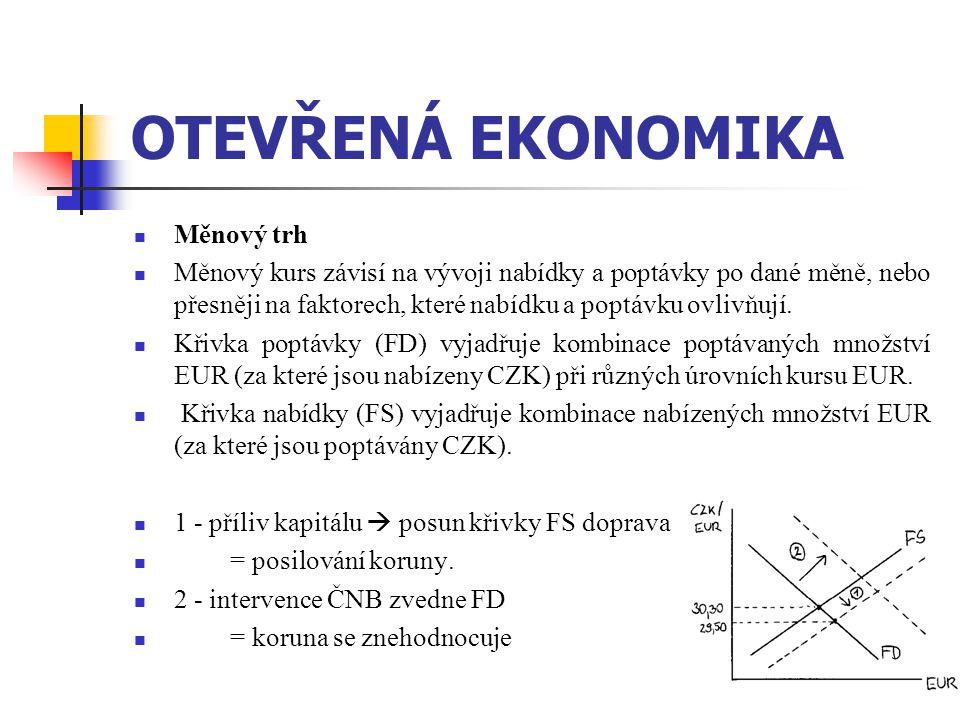 OTEVŘENÁ EKONOMIKA Měnový trh