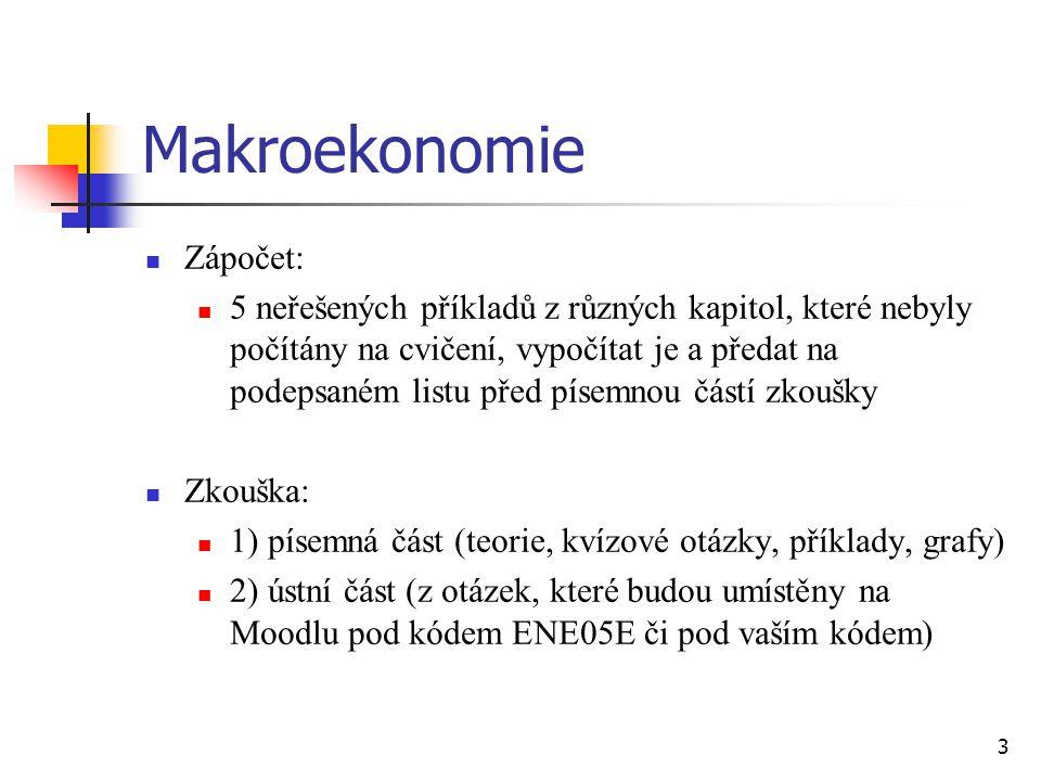 Makroekonomie Zápočet: