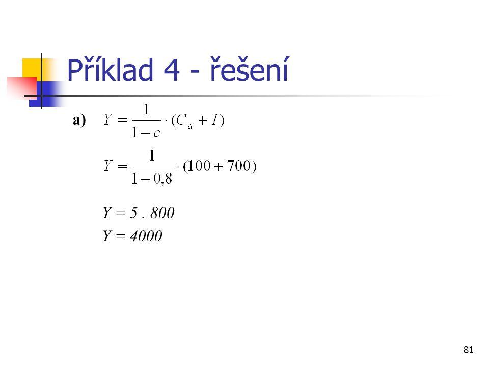 Příklad 4 - řešení a) Y = 5 . 800 Y = 4000