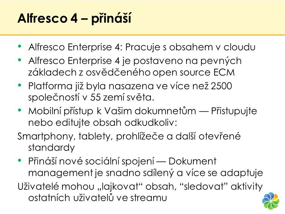 Alfresco 4 – přináší Alfresco Enterprise 4: Pracuje s obsahem v cloudu