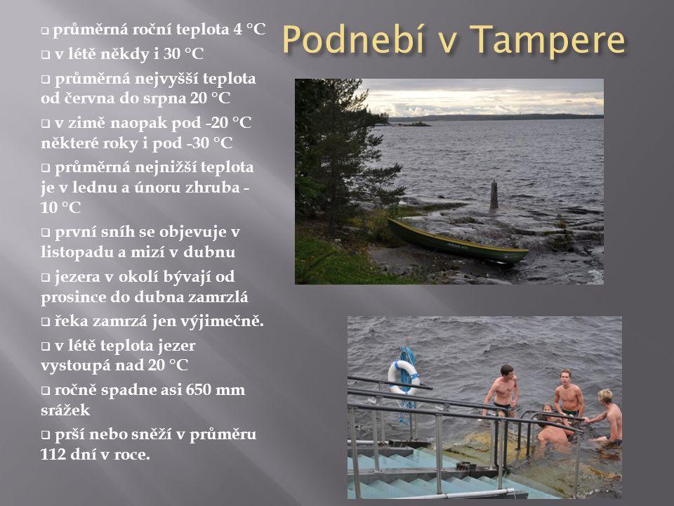 Podnebí v Tampere v létě někdy i 30 °C