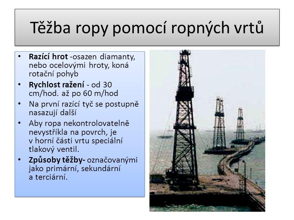 Těžba ropy pomocí ropných vrtů