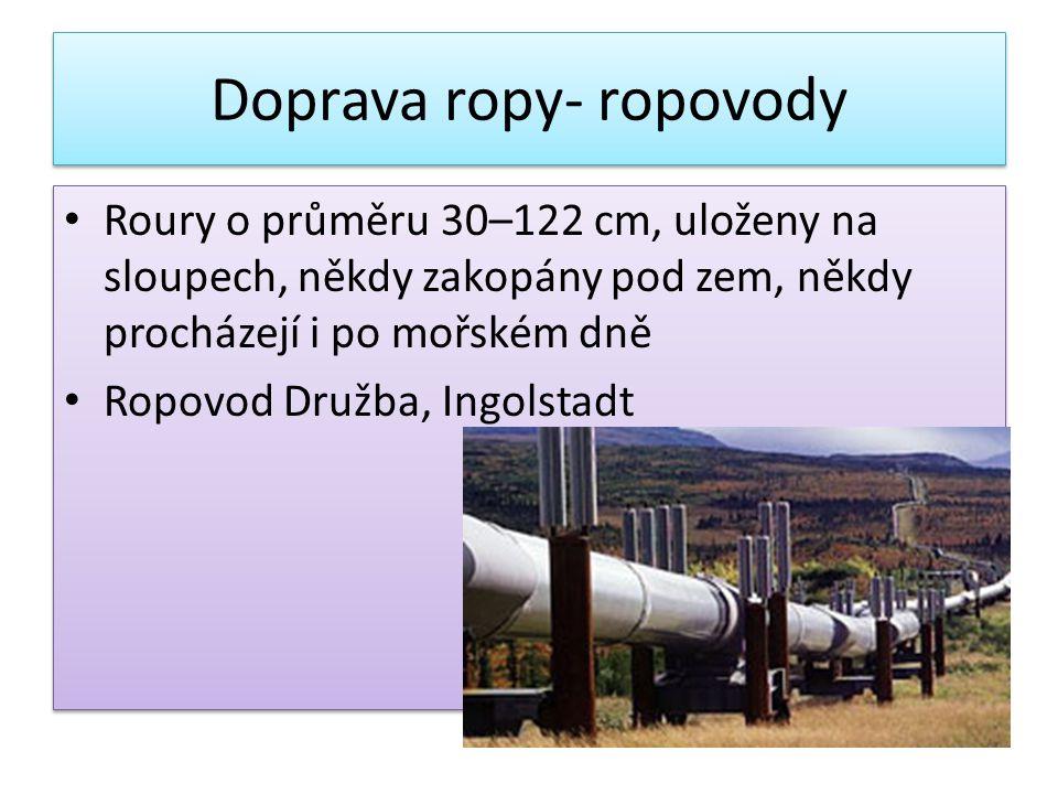 Doprava ropy- ropovody