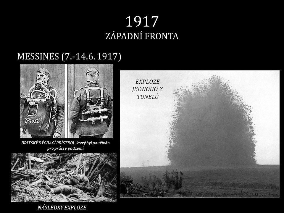 1917 ZÁPADNÍ FRONTA MESSINES (7.-14.6. 1917) EXPLOZE JEDNOHO Z TUNELŮ