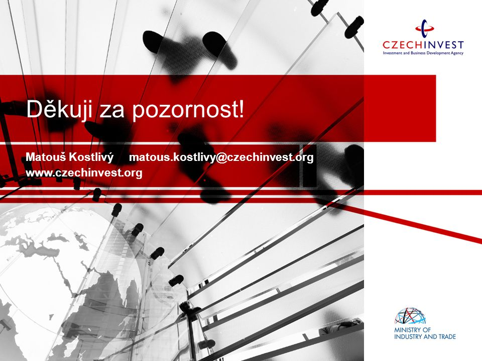Matouš Kostlivý matous.kostlivy@czechinvest.org www.czechinvest.org