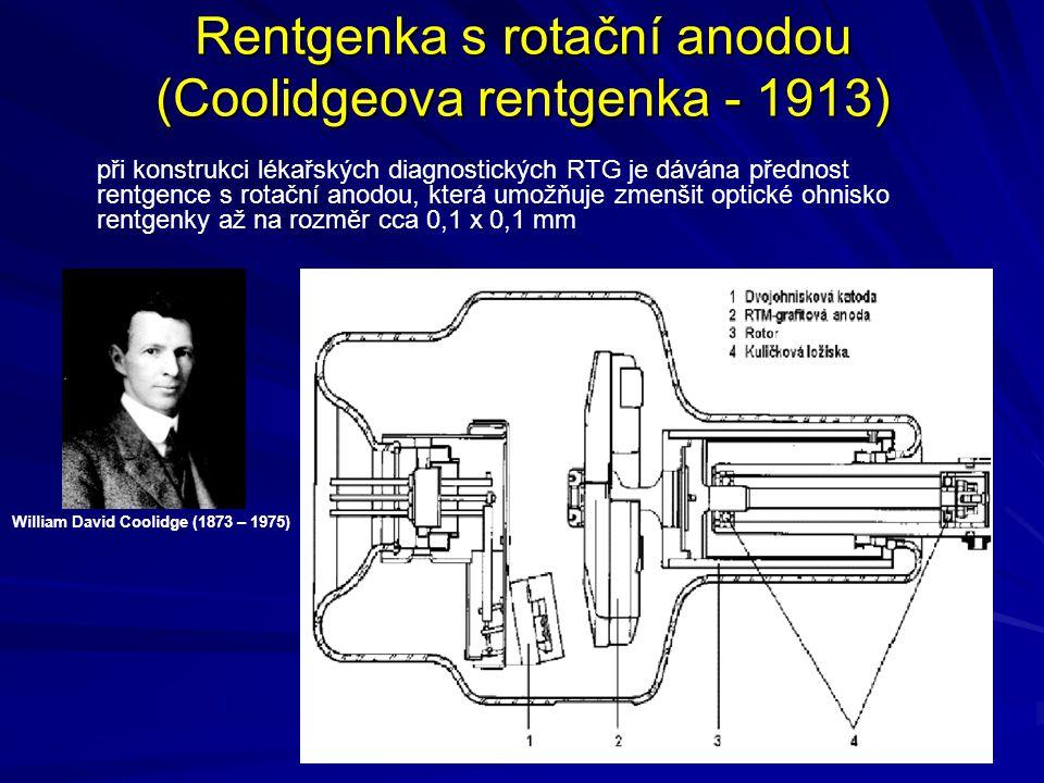 Rentgenka s rotační anodou (Coolidgeova rentgenka - 1913)