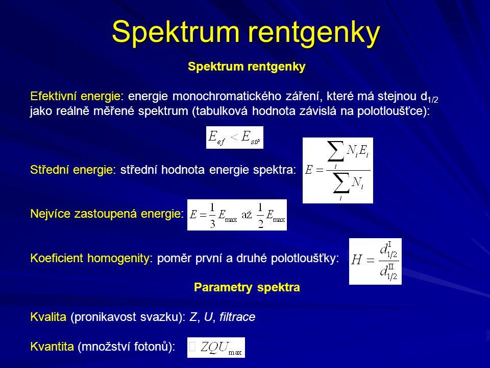 Spektrum rentgenky Spektrum rentgenky