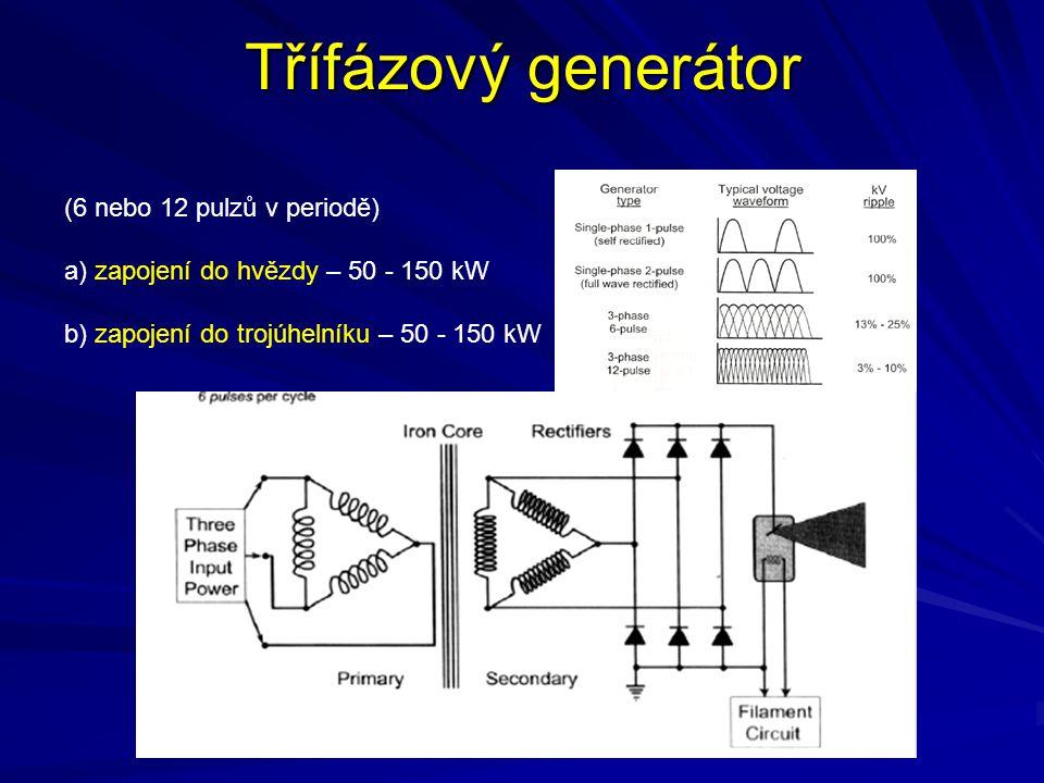 Třífázový generátor (6 nebo 12 pulzů v periodě)