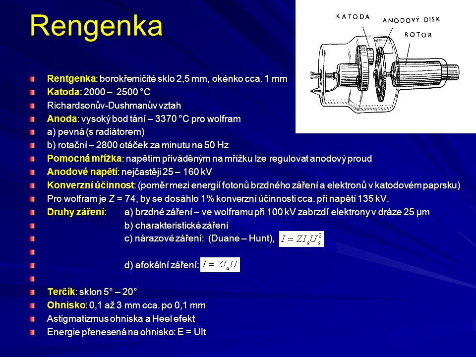 Rengenka Rentgenka: borokřemičité sklo 2,5 mm, okénko cca. 1 mm