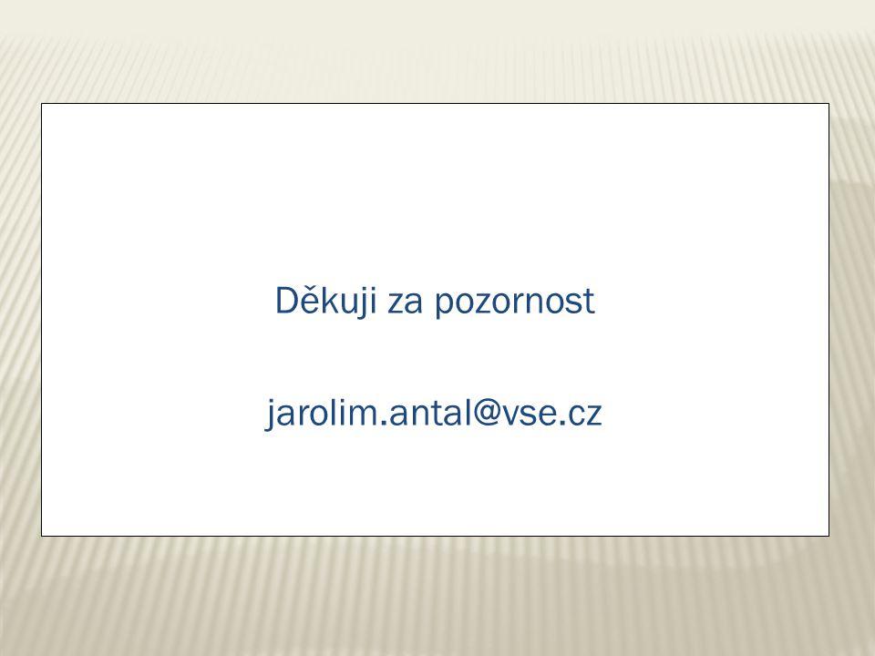 Děkuji za pozornost jarolim.antal@vse.cz