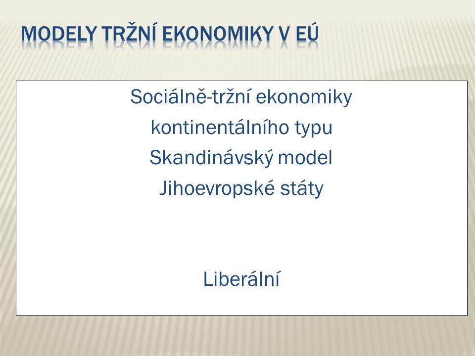 Modely tržní ekonomiky v EÚ