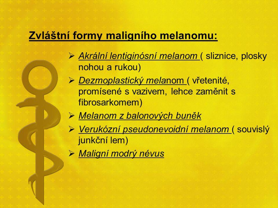 Zvláštní formy maligního melanomu: