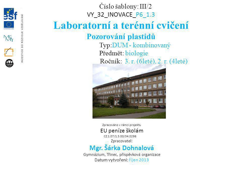 Laboratorní a terénní cvičení