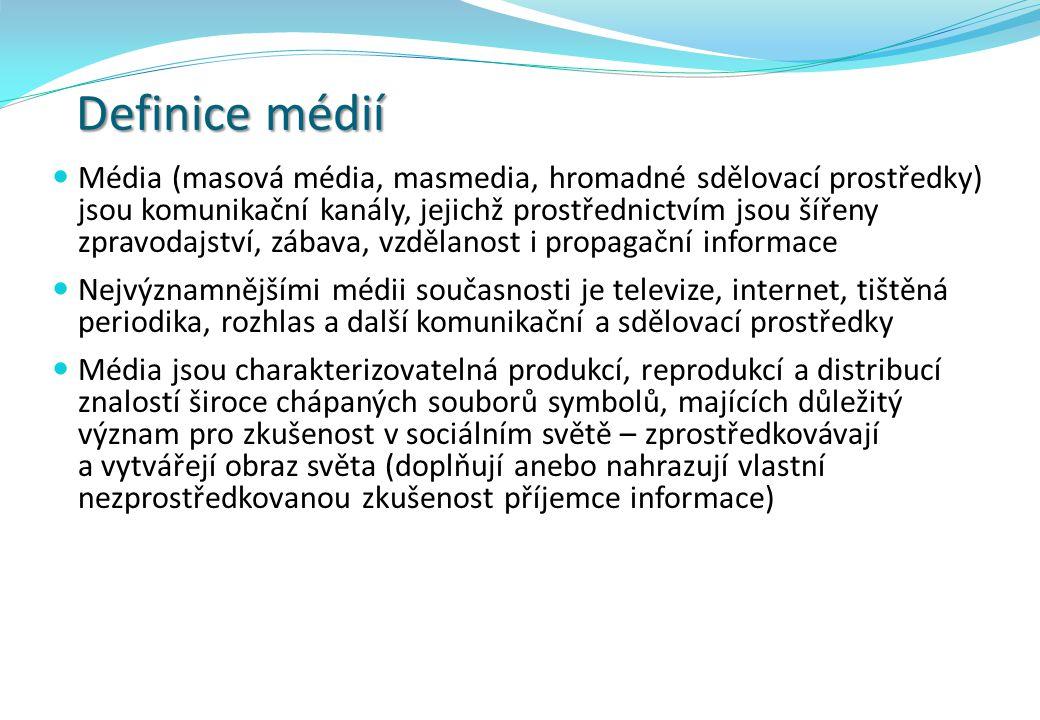Definice médií