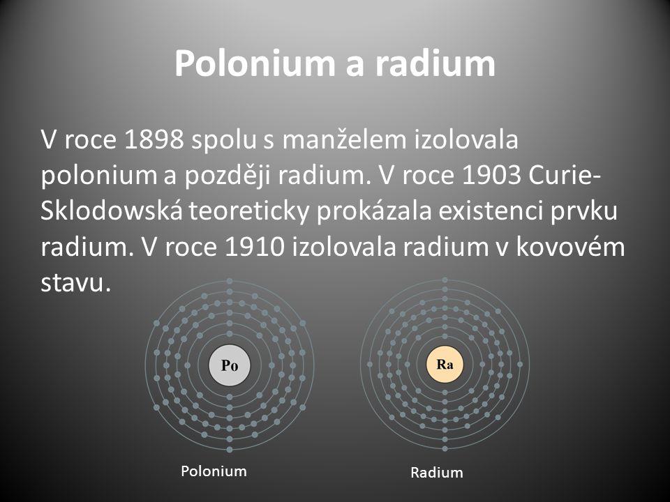 Polonium a radium
