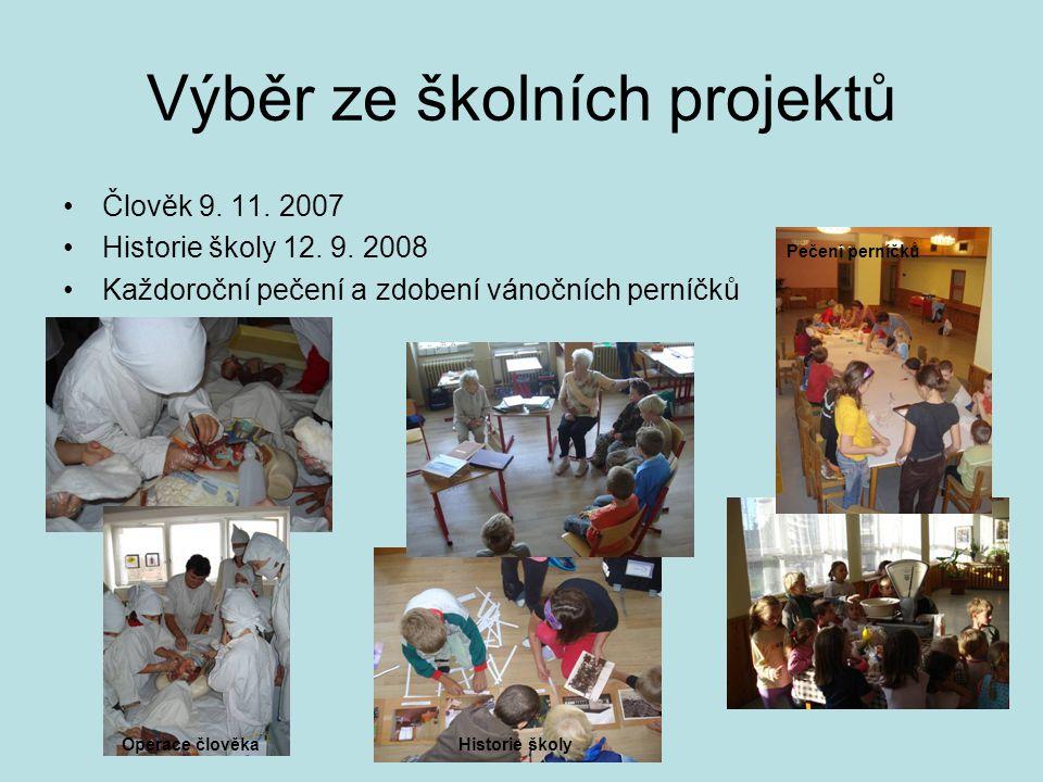 Výběr ze školních projektů