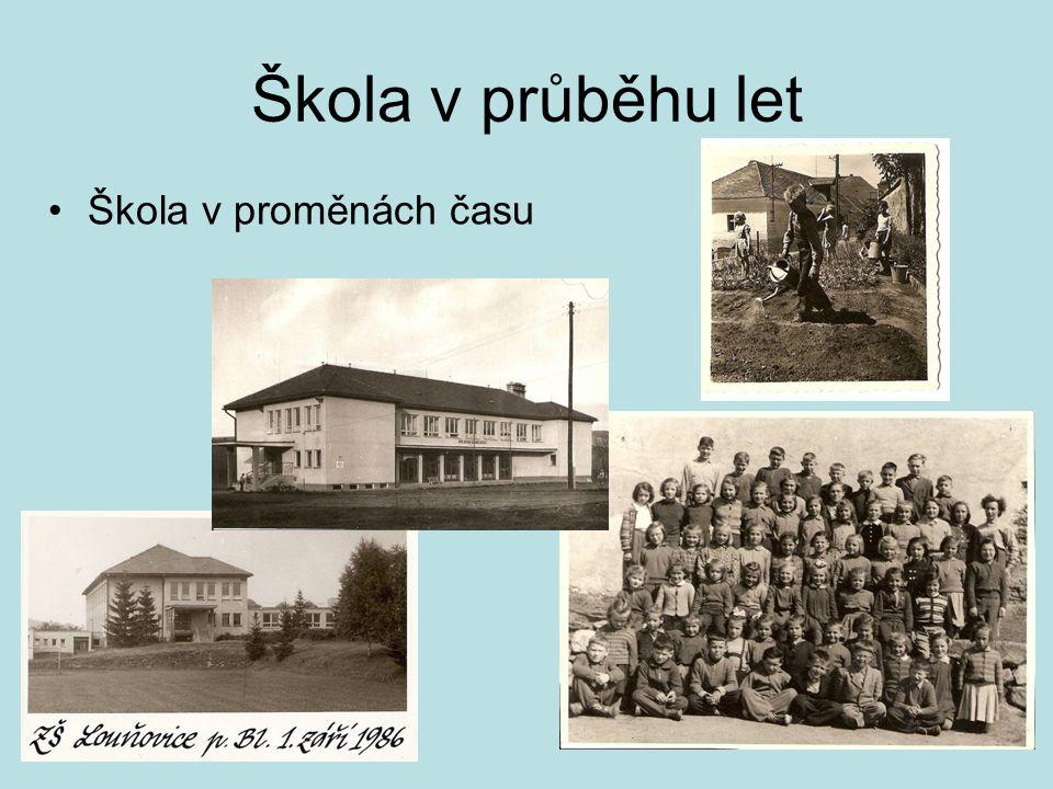 Škola v průběhu let Škola v proměnách času