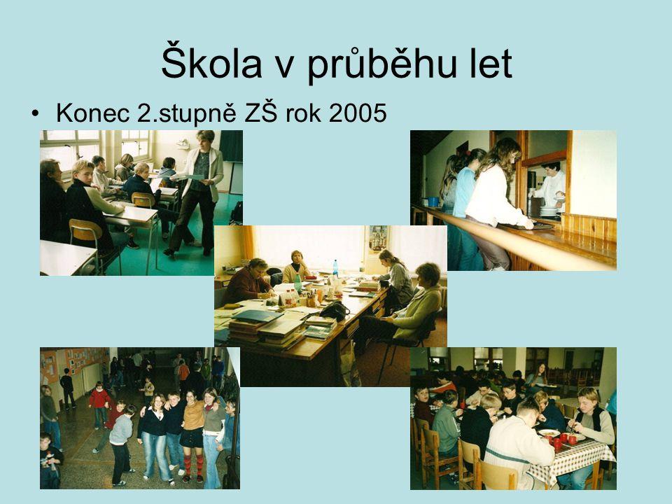 Škola v průběhu let Konec 2.stupně ZŠ rok 2005