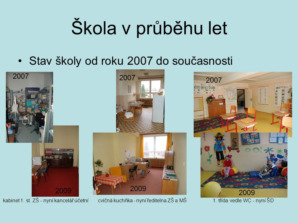 Škola v průběhu let Stav školy od roku 2007 do současnosti 2007 2007